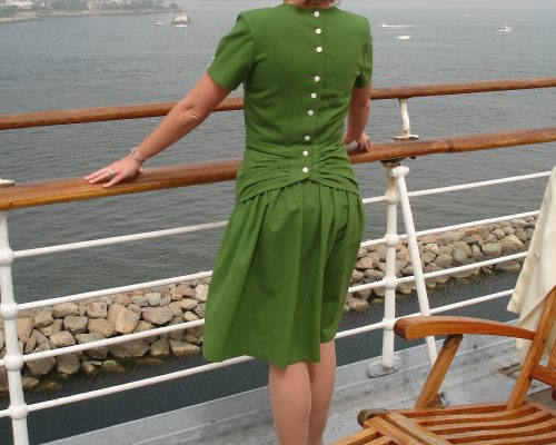 "1940s ""Back Interest"" Dress"