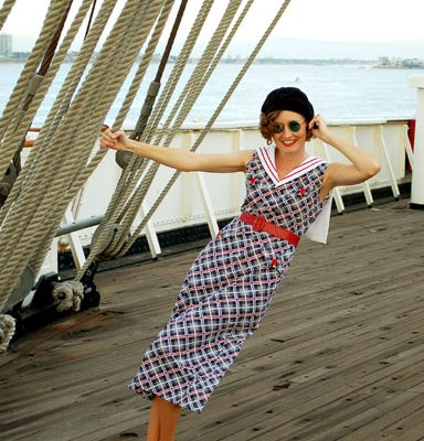 1930s Nautical Dress